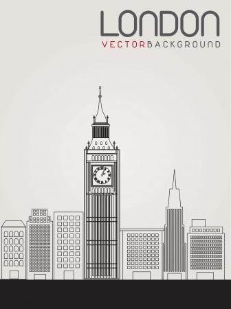 imagen de la ciudad de Londres. Ilustración vectorial
