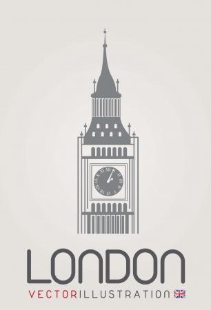 la tour de l'horloge � Londres Illustration