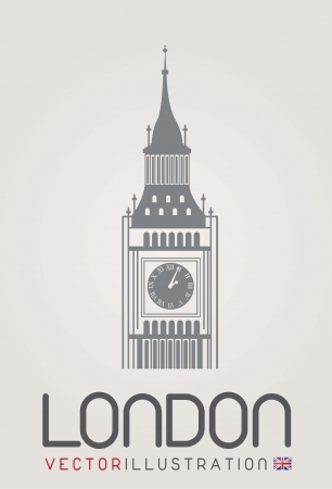 the clock tower in London Vector
