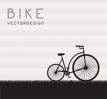 old bike on grass illustration Stock Vector - 14957051