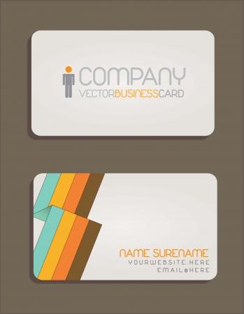 tarjeta de presentacion: Presentaci�n de la tarjeta. Dise�o colorido y moderno
