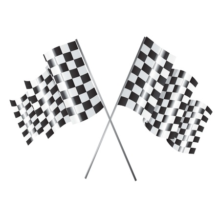 Two racing flag over white background Stock Vector - 14751348