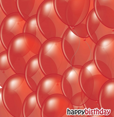 many balloons forming a red background Stock Vector - 14751520