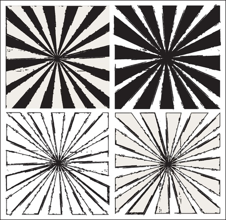 Black and white lines over white background Vector