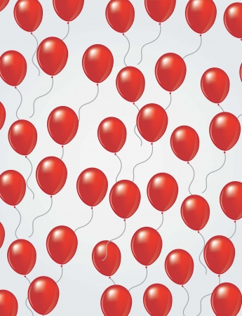 ballons in the air over white background illustration Vector