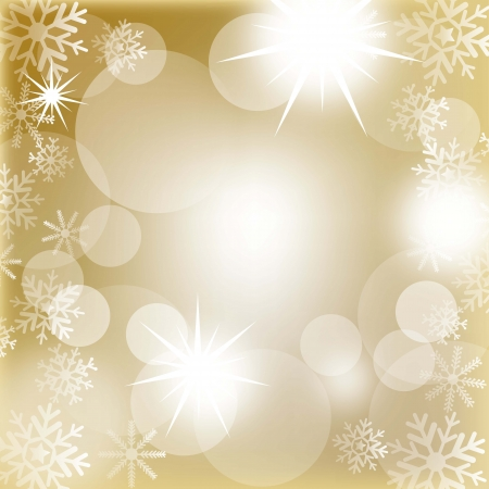 snoflake: christmas lights with snowflakes background. illustration