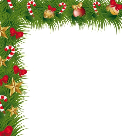 christmas garland with space for copy. illustration Stock Vector - 14751892