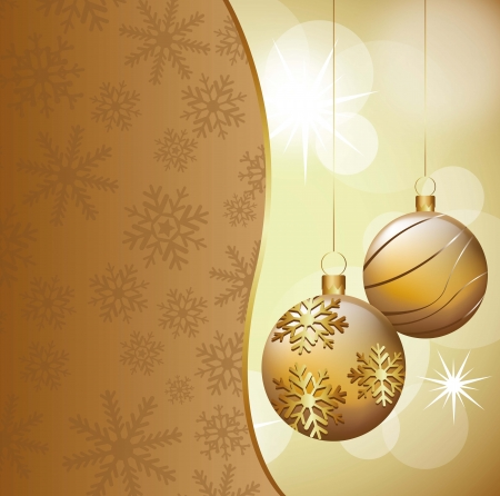 christmas balls on abstract white lights background. vector illustration Vector
