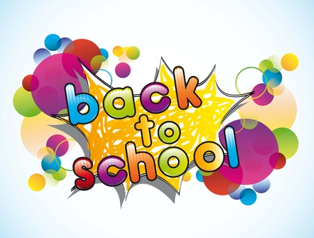 round back: announcement of school, back to school  illustration