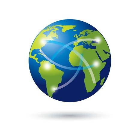 conection: Belleza mundo con signos de comunicaci�n y conexi�n Vectores