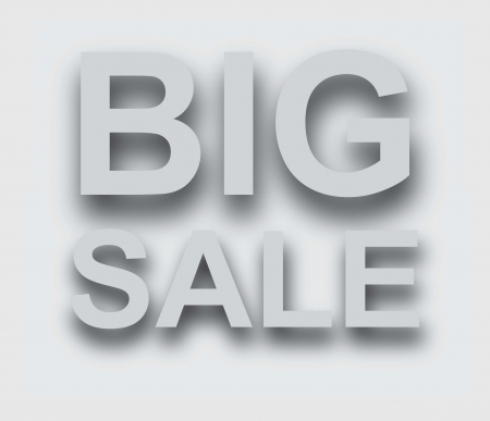 Big sale over white background Stock Vector - 14792937
