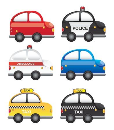 emergency vehicle: Un insieme di vetture occupazioni Vettoriali