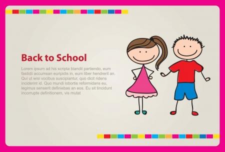 reminder card of  back to school vector illustration Vector