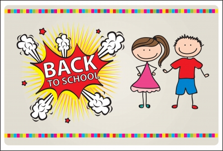 card with a  explosion of back to school vector illustration Stock Vector - 14792785