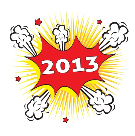 explosion of a new year over white background vector illustration Stock Vector - 14792782