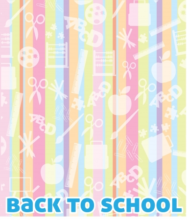 school supplies background with back to school Stock Vector - 14792851