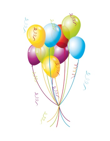 colorful balloons isolated over white background. vector illustration Stock Vector - 14877170