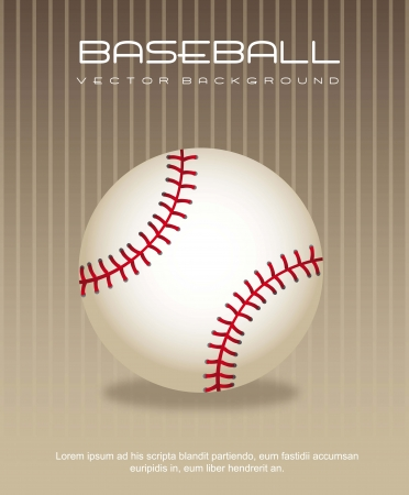 baseball ball over brown background. vector illustration Vector
