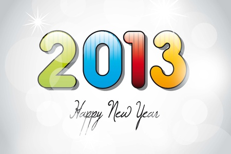 2013 new year over silver background. vector illustration Stock Vector - 14877106