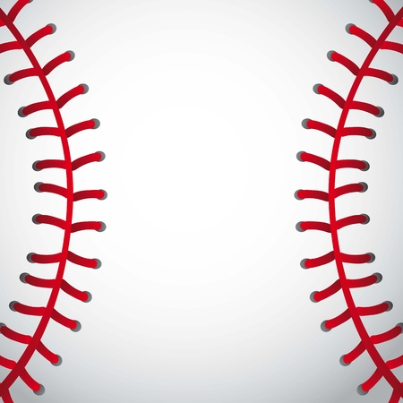 Baseball-Ball Textur Hintergrund. Vektor-Illustration