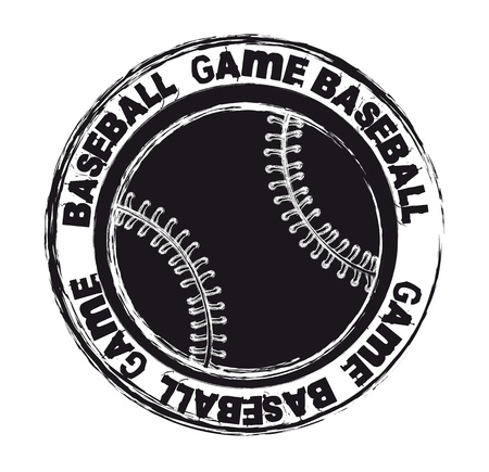 black baseball seal isolated over white background. vector illustration Vector