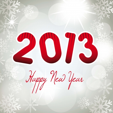 2013 new year over silver background. vector illustration Stock Vector - 14877141