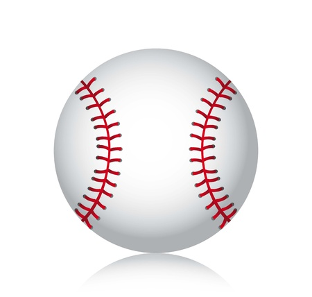 baseball ball with shadow over white background. vector illustration Illustration