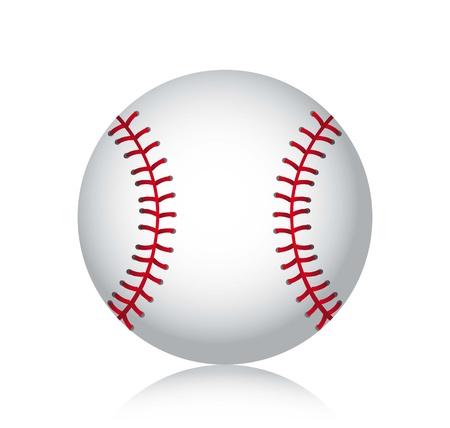 sphere base: baseball ball with shadow over white background. vector illustration Illustration