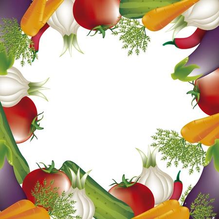 backkground: vegetables over white background. vector illlustration
