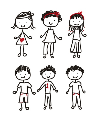 play boy: cute children isolated over white background. vector illustration