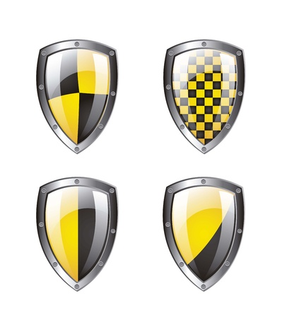 Protection shield isolated over white background. vector illustration Stock Vector - 14944581