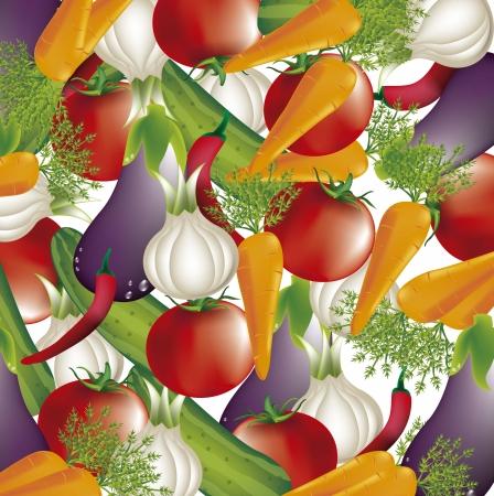backkground: colorful vegetables over white background. vector illustration