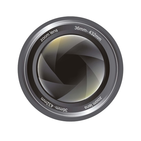 camera lens isolated over white background. vector illutration Stock Vector - 14944523