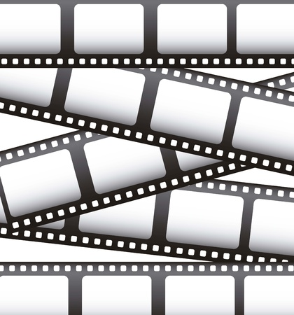 photo strip: film movie over white background. vector illustration