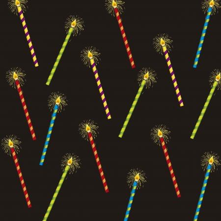 clandels over black background. vector illustration Stock Vector - 14944494
