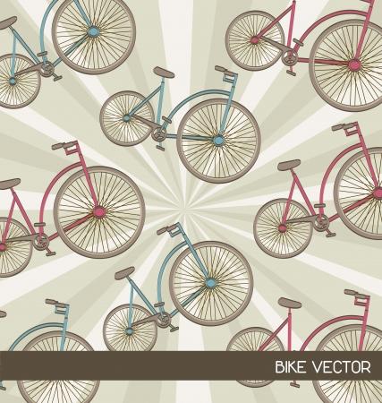 cute bikes over beige  background. vector illustration Vector