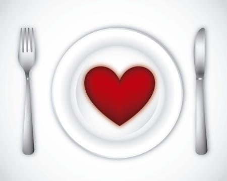 romantic dinner over gray background. vector illustration Stock Vector - 14944372
