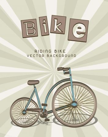 cute bike over beige background. vector illustration Vector