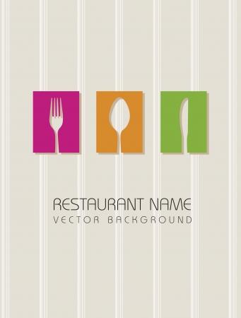 dessert fork: restaurant menu over beige background. vector illustration
