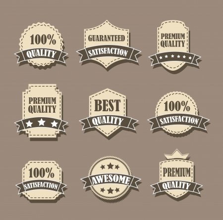 vintage labels over brown background. vector illustration Stock Vector - 14944652