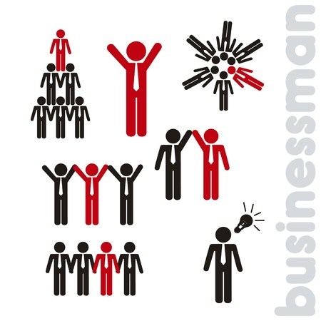 businessman icons over white background illustration Stock Vector - 15068059