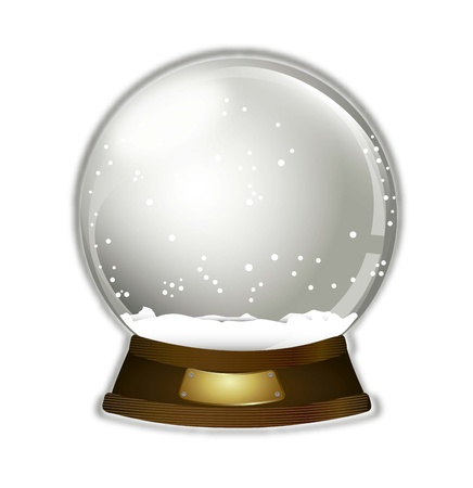 christmas snow globe over white background illustration Vector