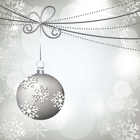 christmas ball with snowflakes background illustration Stock Vector - 15068213