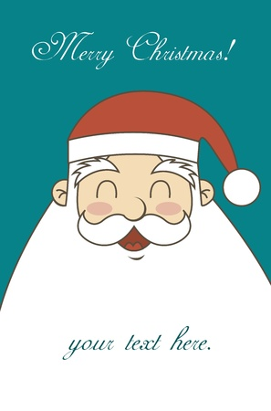 personages: merry christmas card with santa claus