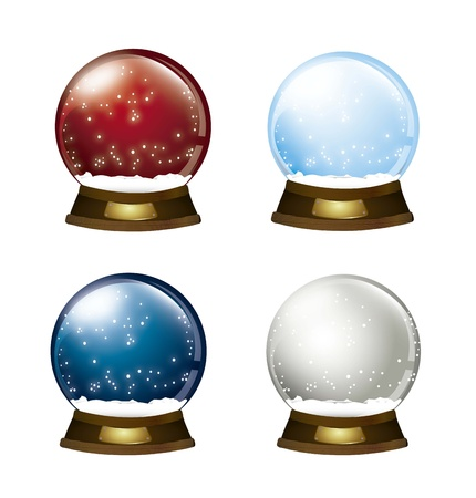 christmas snow: christmas snow globe isolated over white background