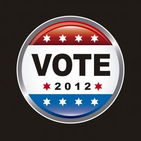 nomination: estados unidos voto electoral sobre fondo negro. vector Vectores
