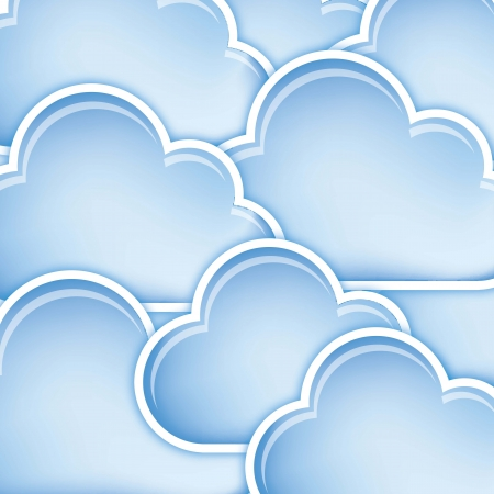blue clouds with edge background. vector illustration Vector