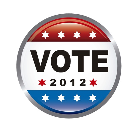united states election vote isolated over white background. vector Vector
