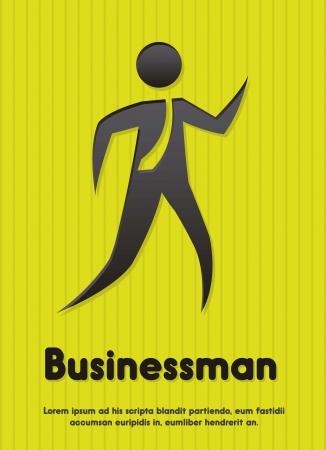 businessman sign over green background. vector illustration Stock Vector - 15136146