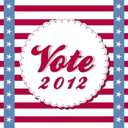 vote 2012 background with stripes. vector illustration Vector
